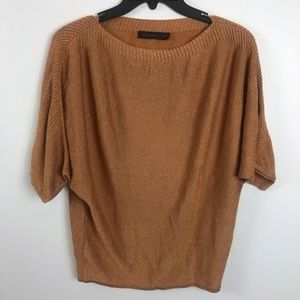 The Limited Copper Sparkle Sweater